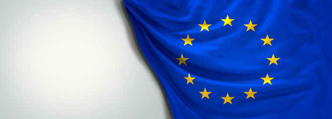 Flag of Europe EU 3d rendering