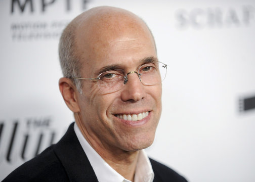 Movie producer Katzenberg arrives at the 2nd Annual Reel Stories, Real Lives event in Los Angeles