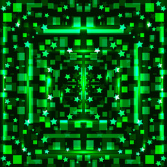 Green bright geometric background