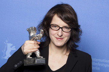 Swiss director Meier poses with her special mention silver bear for the for her Sister (L'enfant d'en haut) movie at the 62nd Berlinale International Film Festival in Berlin