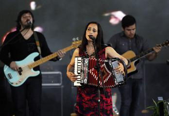 Julieta Venegas performs in San Salvador