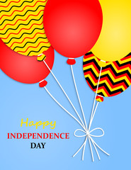 Germany Independence Day Greeting Card.