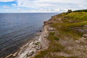Cliffs at the coast in Paldiski, Estonia