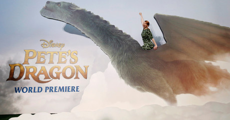 """Cast member Howard poses at the premiere of the movie """"Pete's Dragon"""" at El Capitan theatre in Hollywood"""