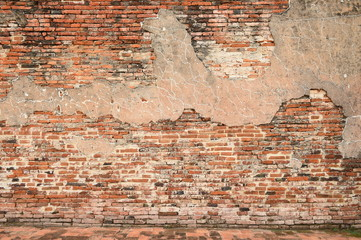 brick wall of temple for background