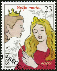 SERBIA - 2015: shows The Sleeping Beauty, series Characters from children's books