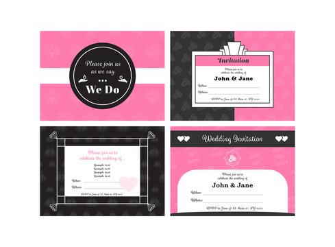 Vector of wedding invitation card
