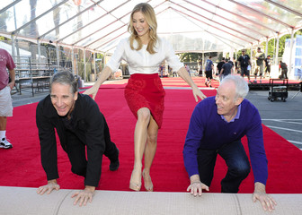 Actors Scott Bakula, Sasha Alexander and Daryl Anderson roll out the red carpet during preparations for Saturday's 20th Annual Screen Actors Guild Awards in Los Angeles