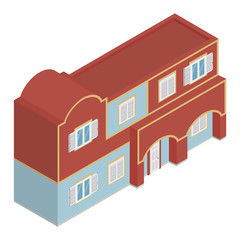 Isometric vector house