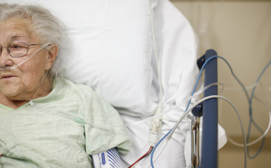 Patient Bush receives treatment in the Emergency Room at OSF Saint Francis Medical Center in Peoria