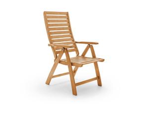 Garden chair on white