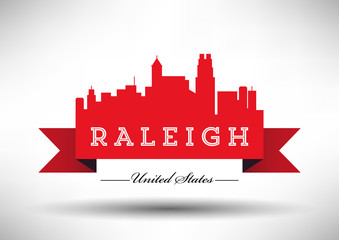 Vector Graphic Design of Raleigh City Skyline