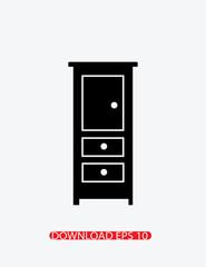 Bathroom furniture icon, Vector