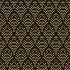 Art Deco, seamless wallpaper pattern