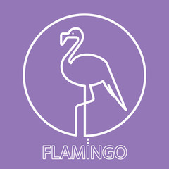 Logo flamingo line Icon