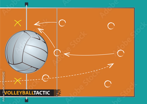 Showing a volleyball court with arrows representing a game plan showing a volleyball court with arrows representing a game plan malvernweather Image collections