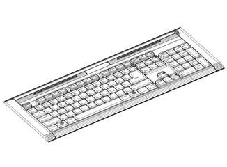 keyboard blueprint– 3D perspective