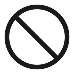 No entry sign line icon