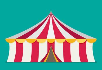 Circus tent vector, flat design
