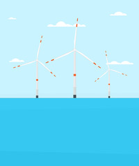 wind turbine farm offshore