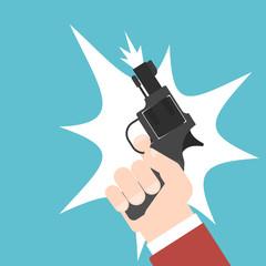 shot of a starting pistol