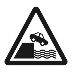 Embankment sign line icon