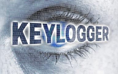 keylogger auge mit matrix blickt auf betrachter konzept