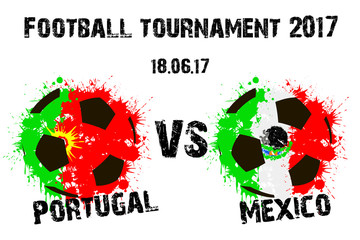 Banner football match Portugal vs Mexico
