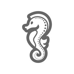 Sea Horse outline icon. Summer. Vacation