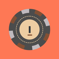 flat icon stylish background single poker chips