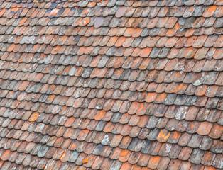 Altes Dach mit Biberschwanzziegeln