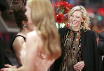 Actors Bonham Carter James and Blanchett arrive for screening at 65th Berlinale International Film Festival in Berlin