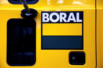 The logo of Boral Ltd adorns the side of a cement truck in Sydney, Australia