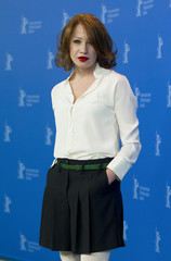 "Cast member Minichmayr poses during photocall to promote movie ""Mercy"" at Berlinale International Film Festival in Berlin"