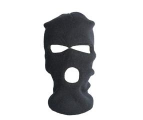 Black thief hat, balaclava isolated on white background - fototapety na wymiar
