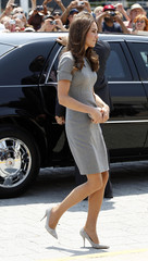 Catherine, Duchess of Cambridge, arrives at a reception at the Canadian War Museum in Ottawa