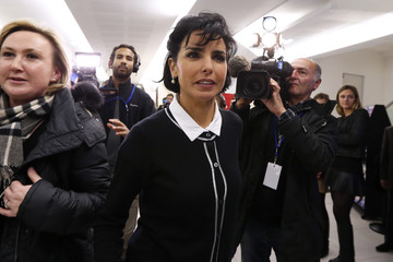 Former French Justice Minister Dati arrives at the UMP political party headquarters in Paris