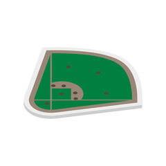 Field of play baseball isometric, vector illustration.