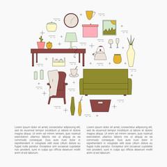 Interior Design concept.