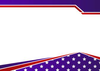 USA flag themed patriotic border design