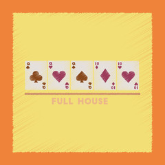 flat shading style icon full house