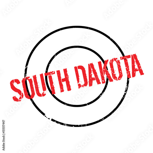 South Dakota Rubber Stamp Grunge Design With Dust Scratches Effects Can Be Easily Removed