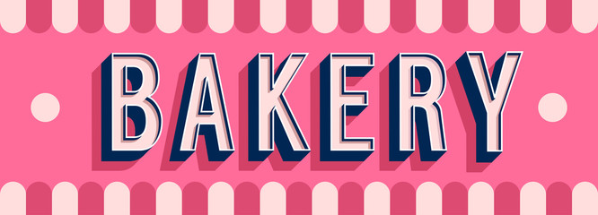 Bakery banner typographic design.