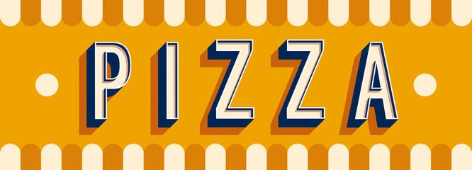 Pizza banner typographic design.