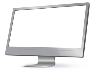 Computer Screen Vector Illustration isolated on white.