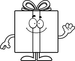 Cartoon Birthday Gift Waving