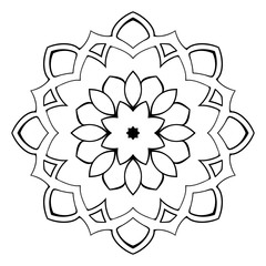 Beautiful mandala for the album. Symmetrical ornament in the cir