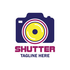camera studio, shutter, camera store logo with text space for your slogan / tagline, vector illustration
