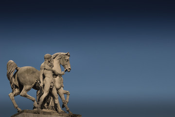 Statue of a Man and Horse