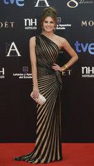Spanish actress Salamanca poses on the red carpet before the Spanish Film Academy's Goya Awards ceremony in Madrid